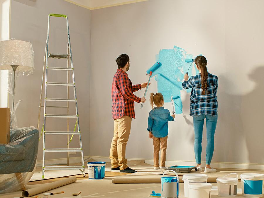 imbiancare-casa tinteggiare casa